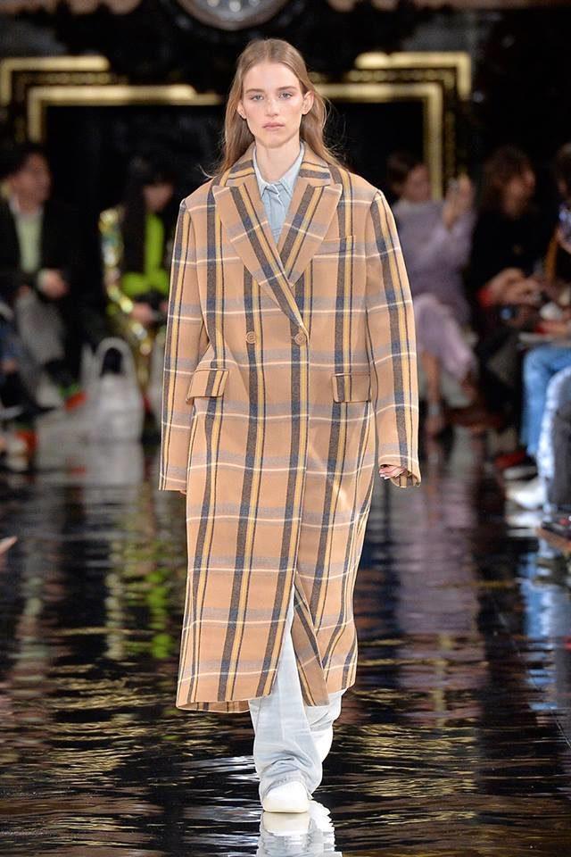 Cappotto a quadri mannish style Stella McCartney.