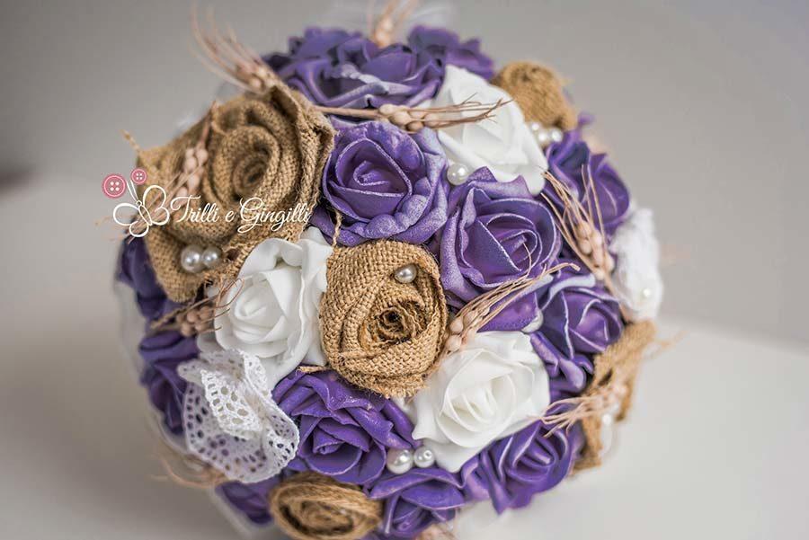 bouquet ultra violet di trilli e gingilli