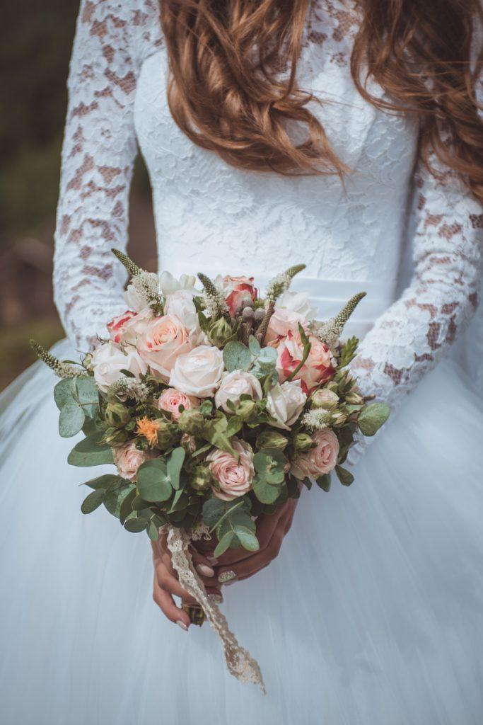 Bouquet sposa 2018 color viola