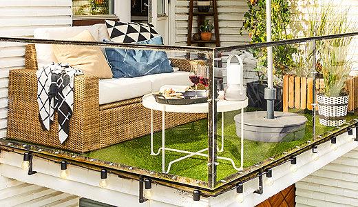 Terrazzo moderno idee per un angolo relax con i fiocchi for Ikea arredamento esterno