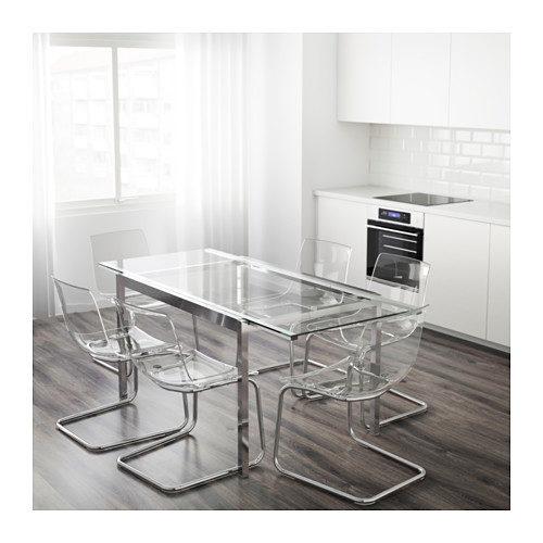 Tavolo allungabile trasformare il living in una sala da pranzo unadonna - Ikea tavolo vetro allungabile ...