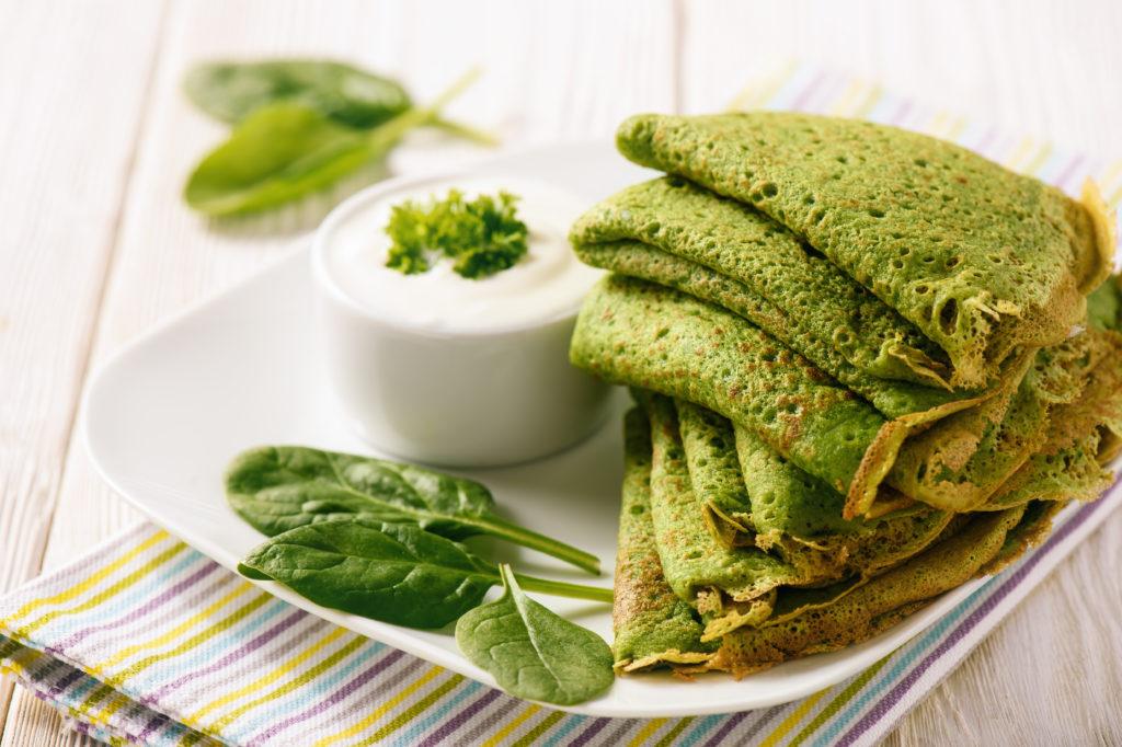 Pancakes vegan di spinaci.