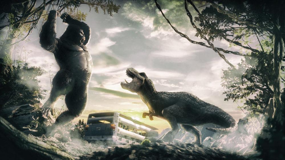 Jurassic War è la nuova attrazione del parco divertimenti Cinecittà World di Roma.