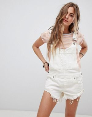 Salopette corta in jeans by Free People - Summer Babe