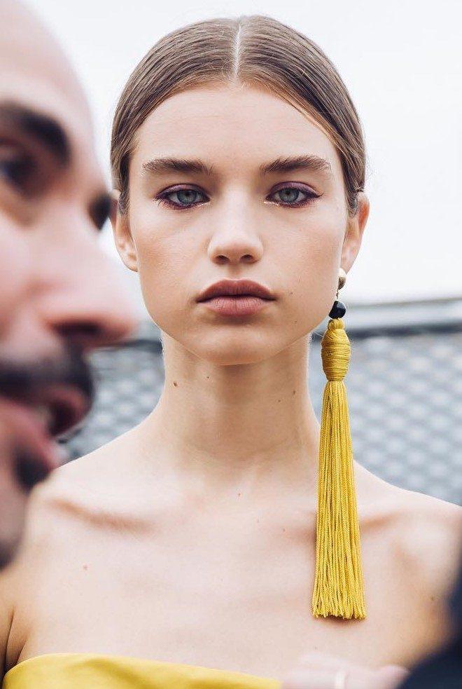 Look beauty New York Fashion Week - Oscar de la Renta