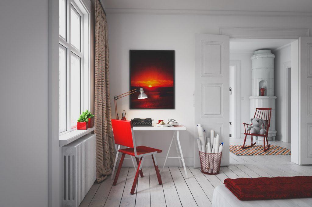 Un quadro dipinto a mano può rendere lo spazio più accogliente