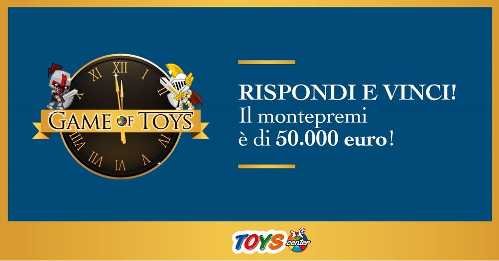 Partecipa al concorso di Toys Center: avrai la possibilità di vincere premi fino a 50.000 euro!