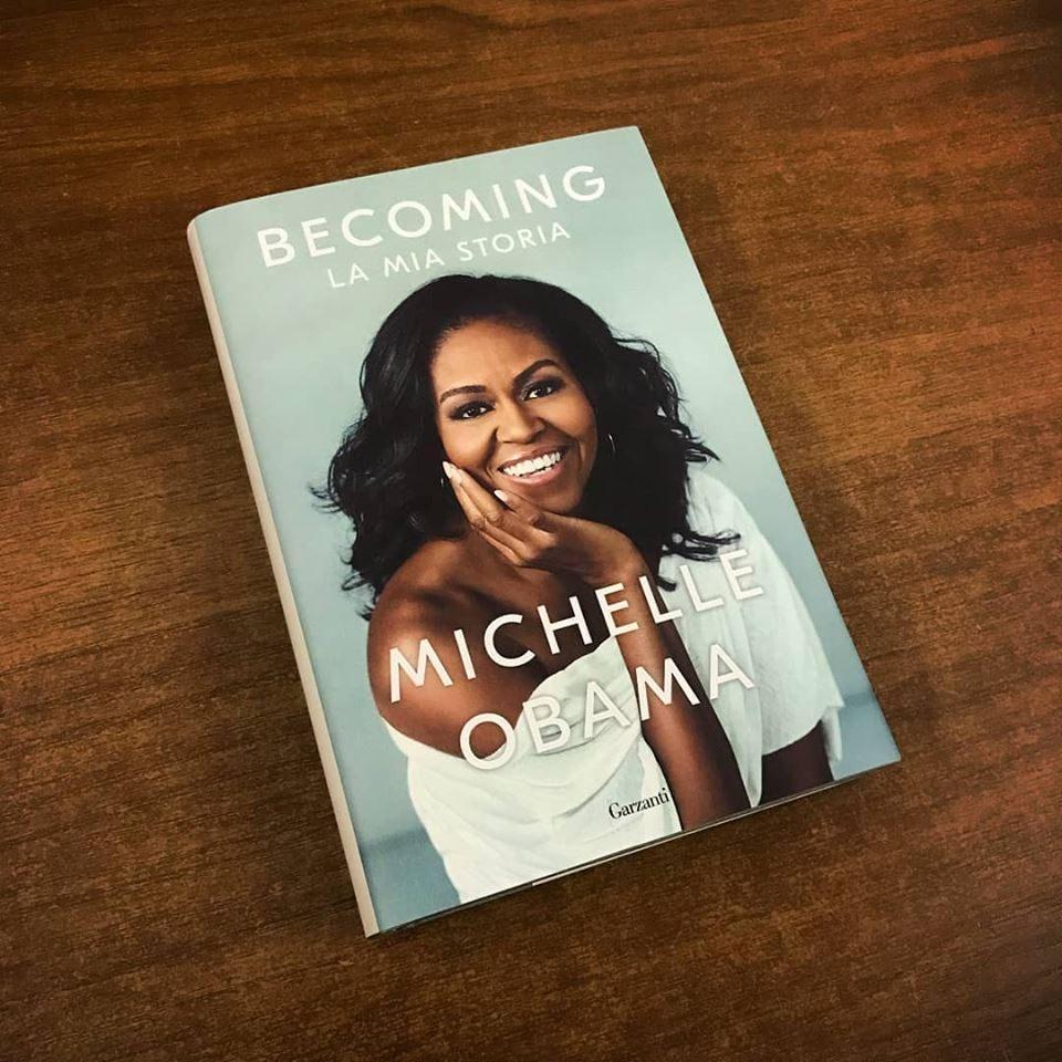 Becoming, l'autobiografia di Michelle Obama. Foto © Garzanti Facebook