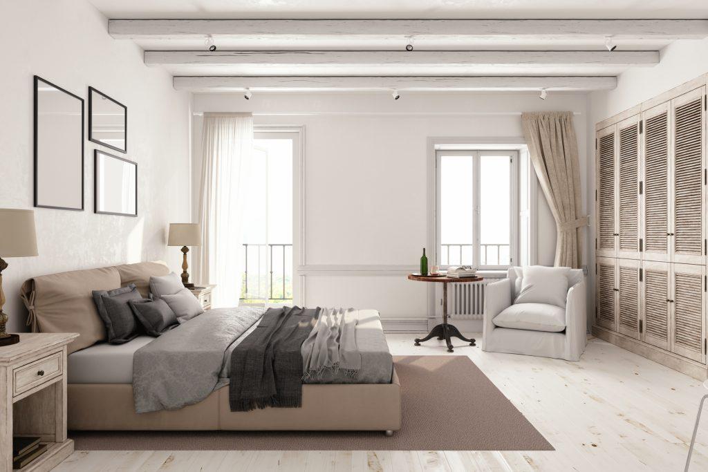 Arredamento camera da letto.