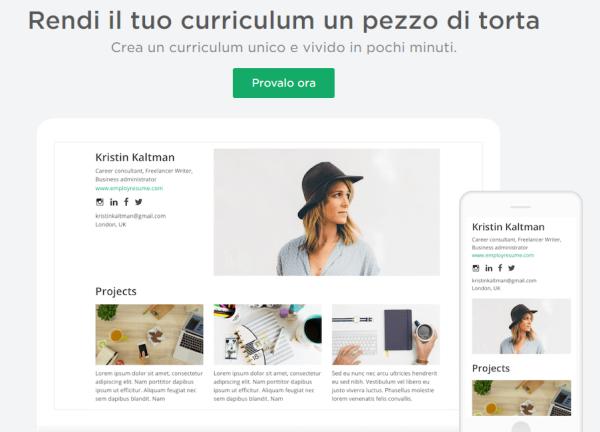 tool per creare un cv online