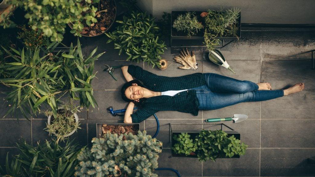 Terrazzo con piante.