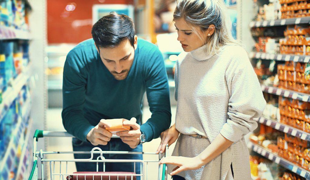 Leggere l'etichetta al supermercato