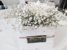 decorazione floreale fai da te shabby chic