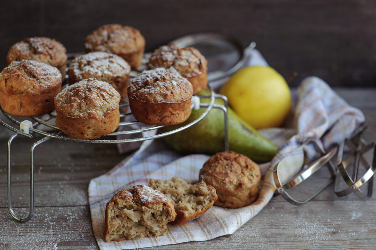 Ricetta muffin pere e cannella