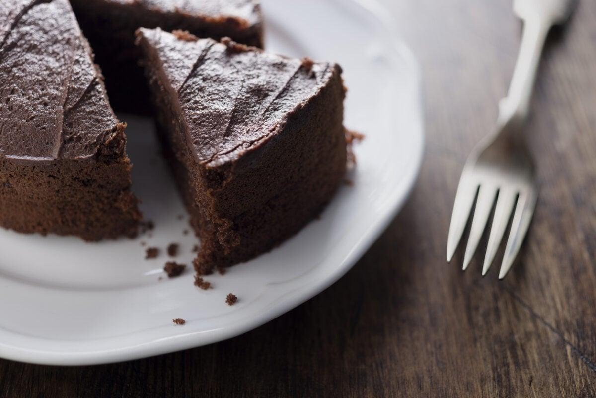 Torta senza lattosio al cioccolato