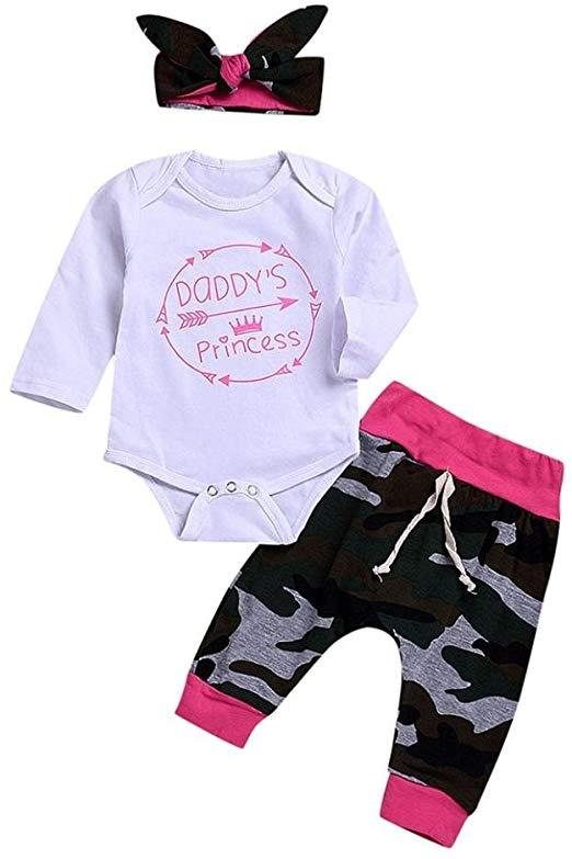 Pagliaccetto-Stampato-con-Stampa-Pagliaccetto-con-stampa-con-pantalone-mimetico-e-fascia-per-capelli-Amazon