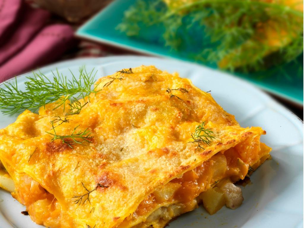 Lasagna zucca e gorgonzola