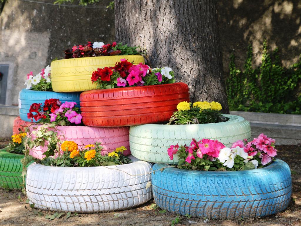 Come riciclare gomme auto: idee per il tuo giardino
