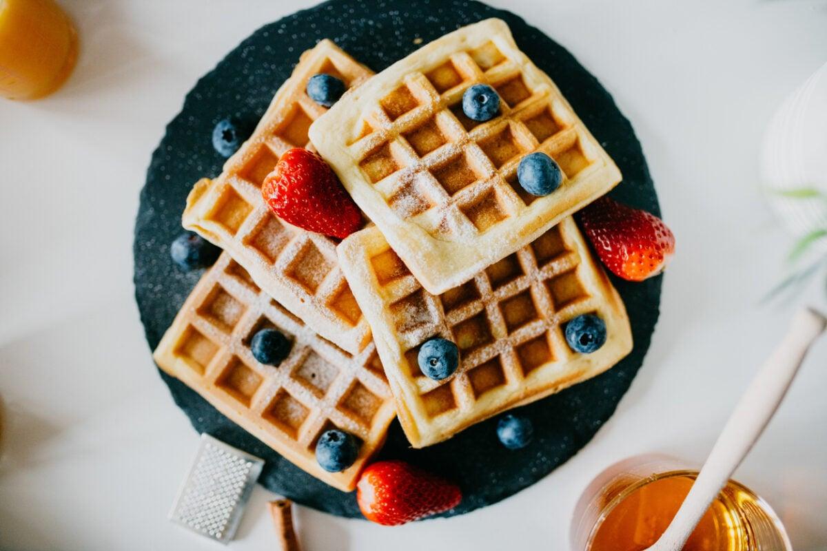 Waffle ricetta senza burro, originale o con bimby
