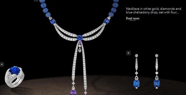 Chaumet.fr - Parure in oro grigio, diamanti e calcédoines bleue
