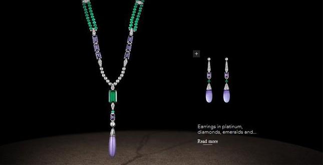 Chaumet.fr - Parure in platino, diamanti e smeraldi, giada lilla