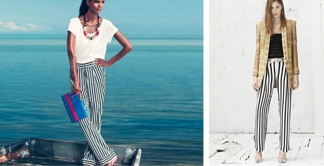 Pantaloni ss2013 H&M e Balmain  (tableau byAC)