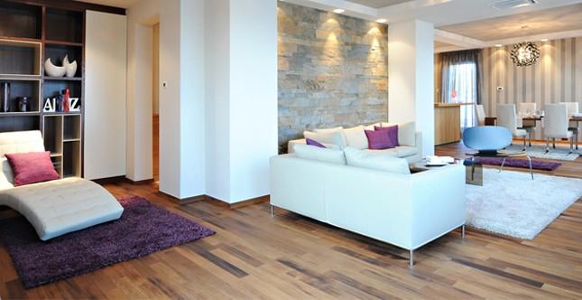 tappeti per delineare gli ambienti della socialità, del relax e della zona cucina