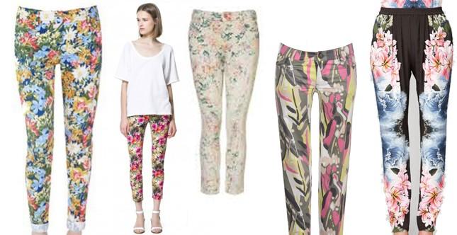 Pantaloni ss2013 STAMPE di Zara, Stella McCarthney e Topshop (tableau byAC)