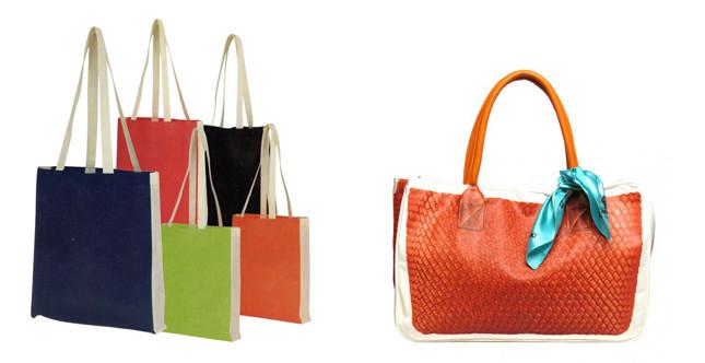 Borse colori stile shopper e Pominaki (tableau by AC)