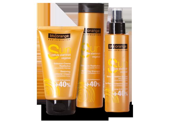 Linea di prodotti  per capelli con Filtri Solari di BluOrange