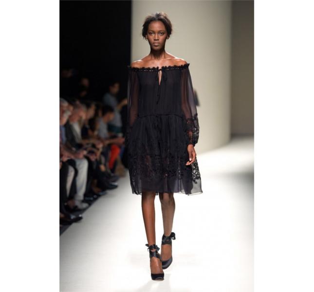 Alberta Ferretti ss 2014 - abito in pizzo nero