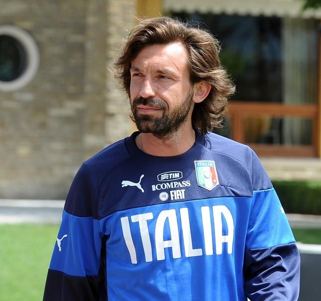 Il centrocampista azzurro Andrea Pirlo