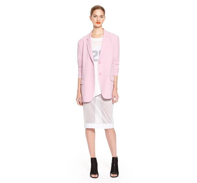 Blazer rosa pastello DKNY spring 2014