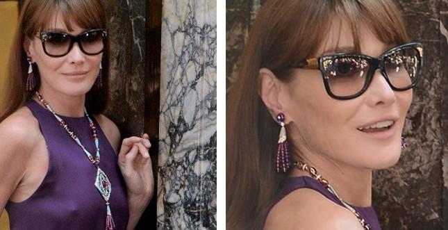Carla Bruni indossa BVLGARI (tableau byAC)