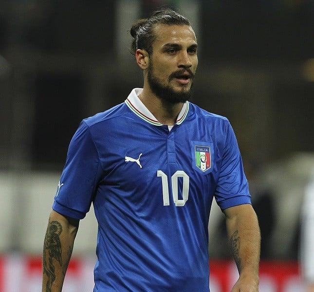 L'attaccante Daniel Pablo Osvaldo in Italia vs Germania