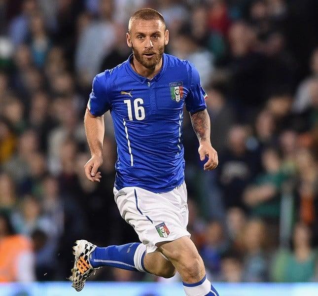 Il centrocampista  Daniele De Rossi in Italia vs Irlanda