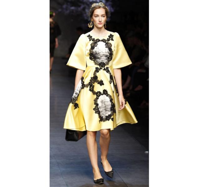 Dolce e Gabbana ss 2014 - abito in pizzo su seta