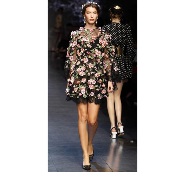 Dolce e Gabbana ss 2014 - abito pizzo con fiori