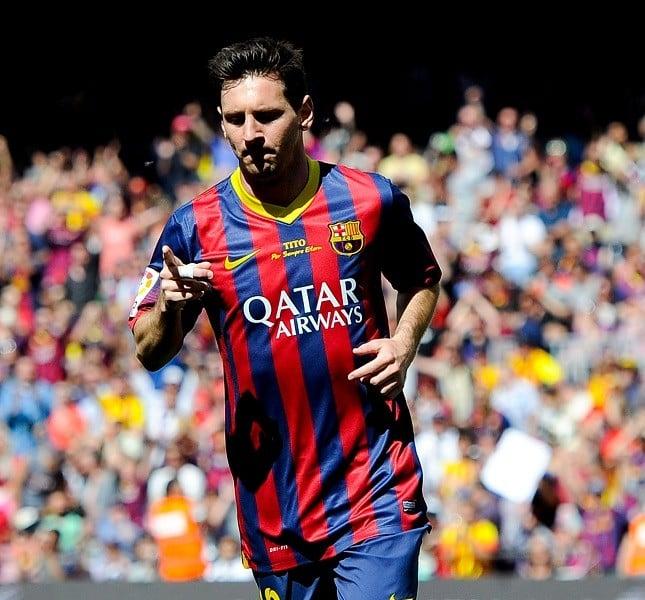 L'attaccante del Barcelona Leo Messi