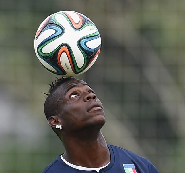 L'attaccante del Milan e della Nazionale Mario Balotelli
