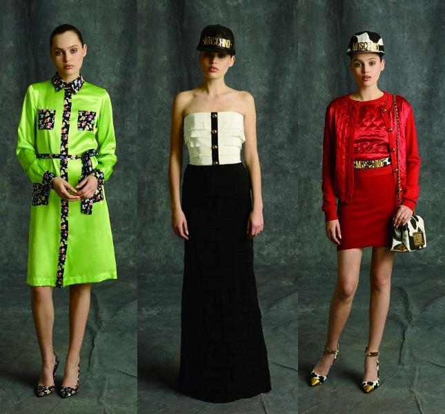 Ironica, chic, vintage: la collezione Moschino pre fall 2014