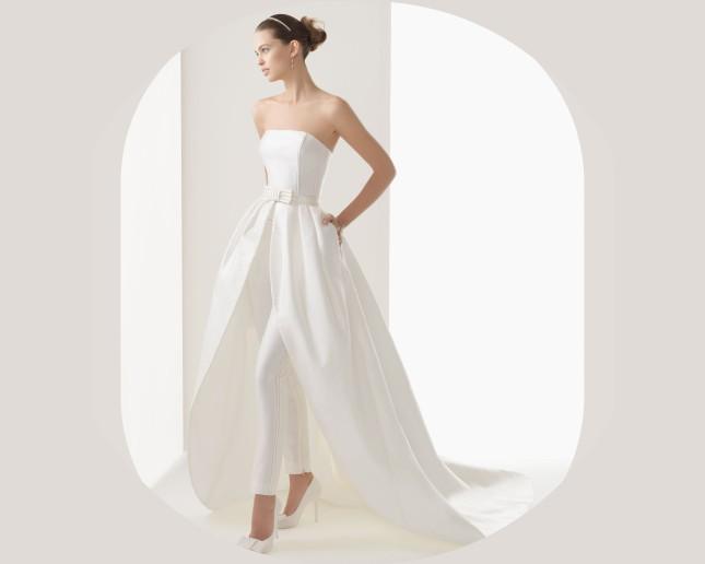 Rosa Clarà, collezione 2014, modello Cloe, pantaloni e tasche insieme