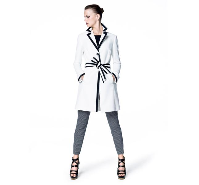 Sisley: cappotto black & white